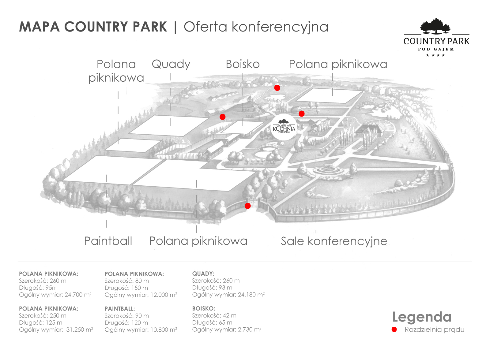 mapa konferencje country park