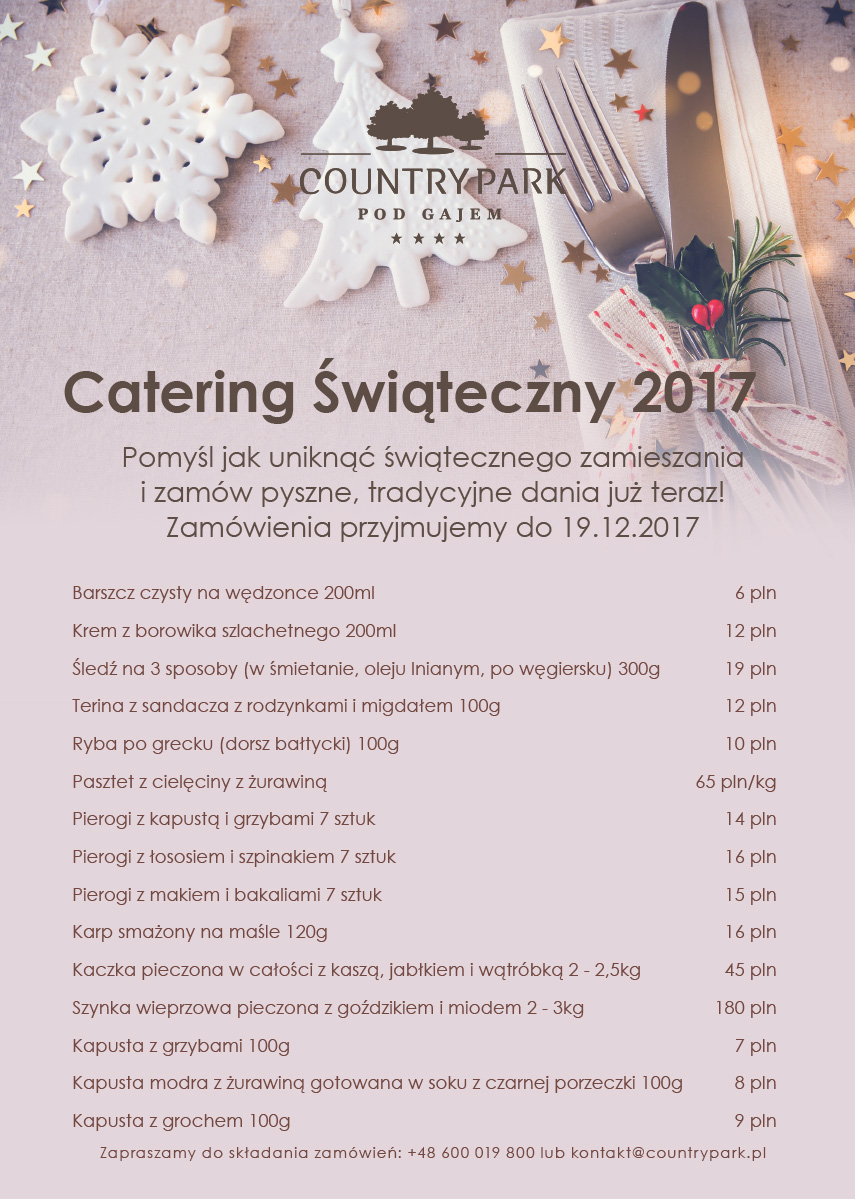 catering wigilijny 2017